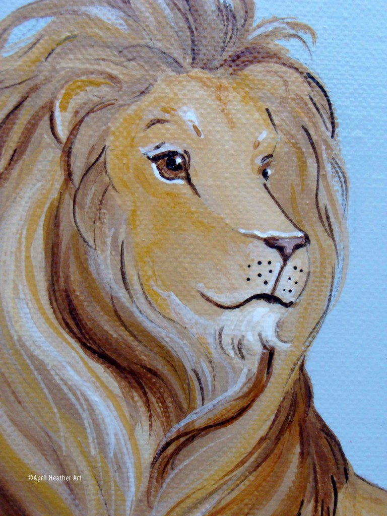 The Lion and the Lamb | April Heather Art for Lion And Lamb Painting  186ref