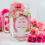 Custom Mason Jar Glass from April Heather Art