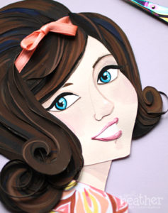 60's Girl Paper Cut - April Heather Art