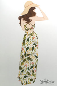 Backless Dress - April Heather Art