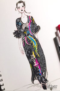 Black Star Dress - April Heather Art