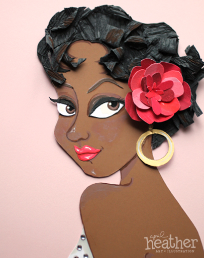 Dorothy Dandridge Paper Cut - April Heather Art