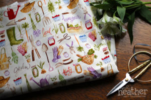Fabric: Garden I - April Heather Art
