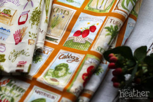 Fabric: Garden II - April Heather Art