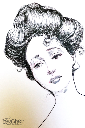 Gibson Girl - April Heather Art