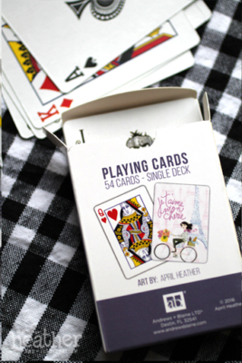 Parisian Playing Cards II - April Heather Art