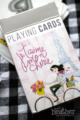 Parisian Playing Cards I - April Heather Art