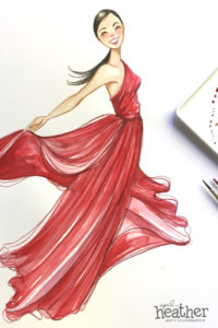 Red Dress - April Heather Art