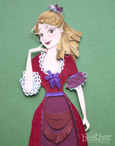 Victorian Girl Paper Cut - April Heather Art