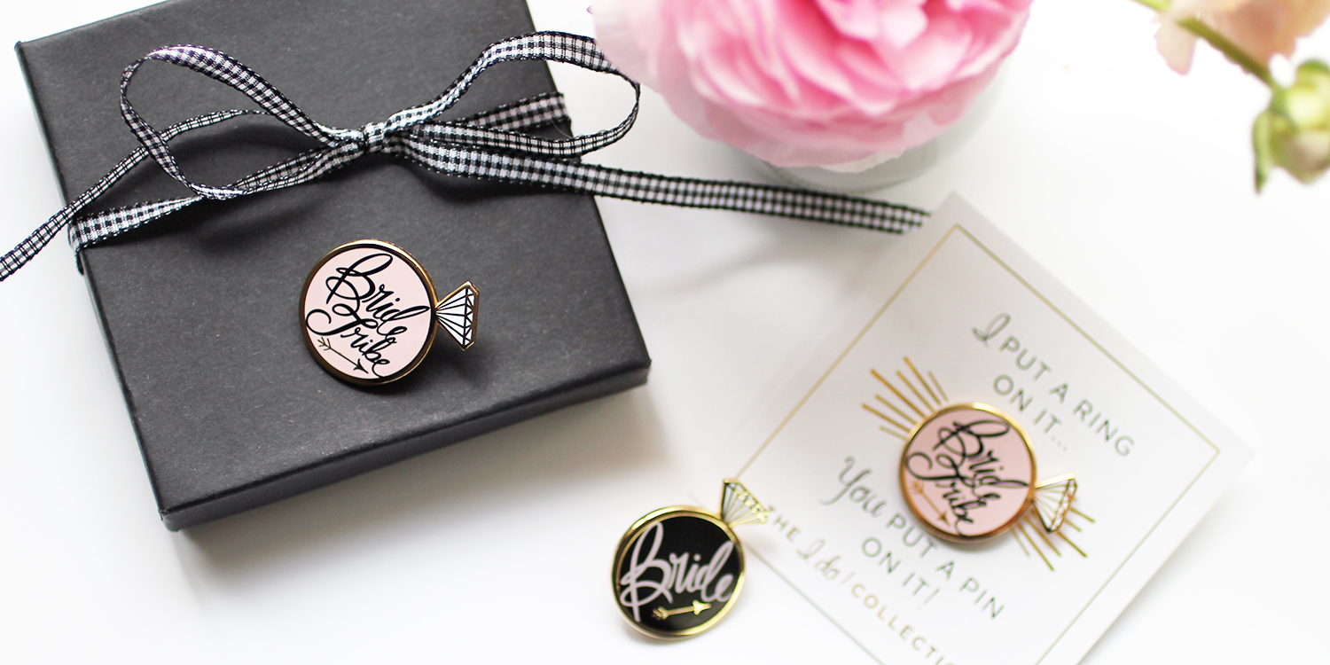 New! Bride Tribe Enamel Lapel Pins!