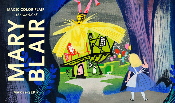 mary blair exhibit poster