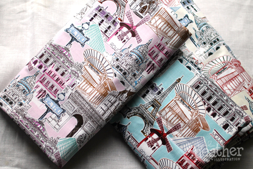 Fabric: French - April Heather Art
