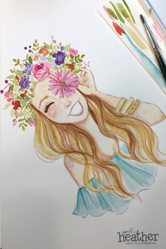 Flower Crown - April Heather Art