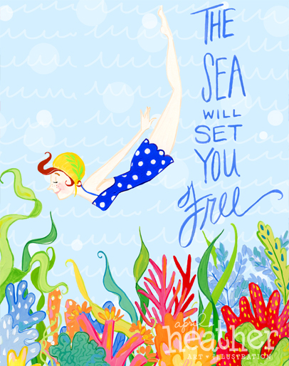 The Sea and Me Collection - April Heather Art