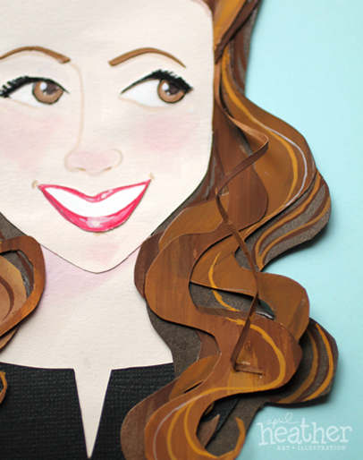 Victory Roll Paper Cut - April Heather Art