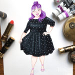 Fashion Print Ashley Nell Tipton by April Heather Art