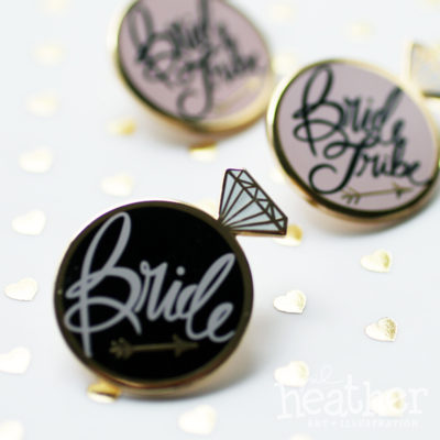 I Do Bride Enamel Pin