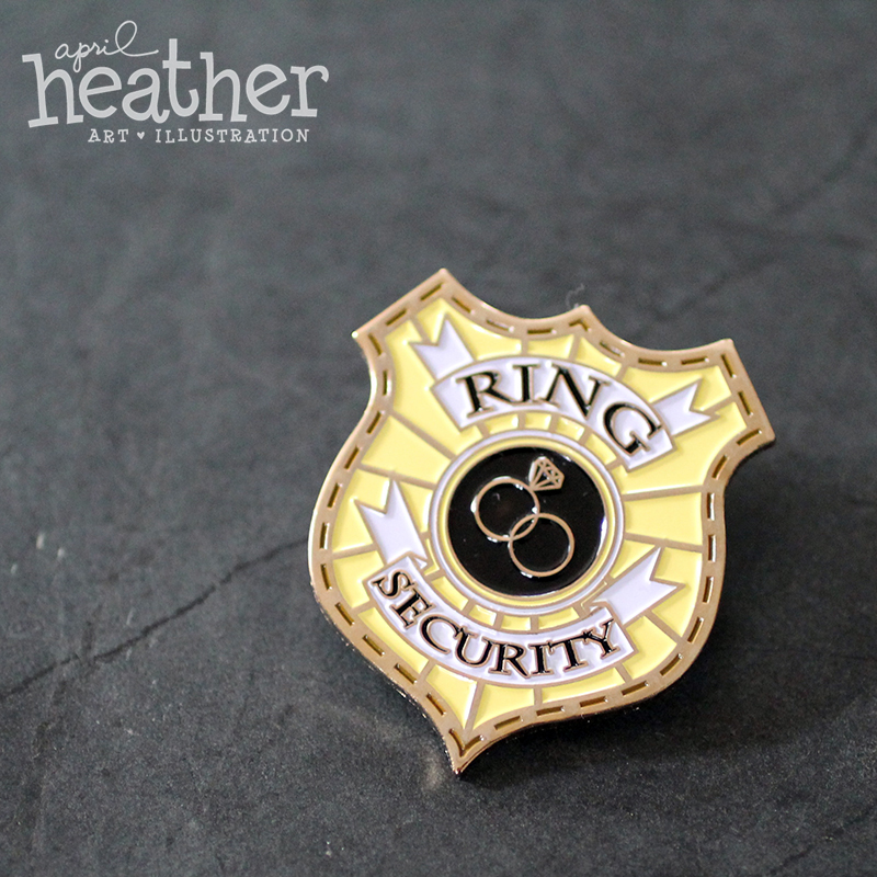 Ring Bearer Ring Security Enamel Pin