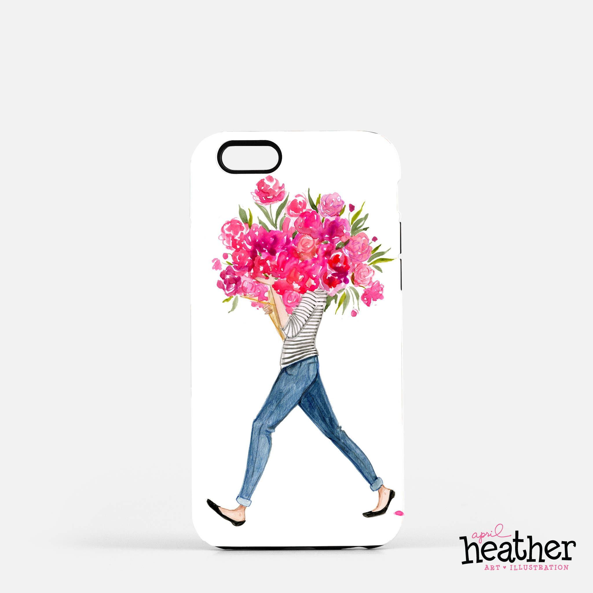 Peonies Bouquet: Phone Case