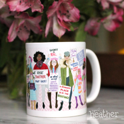 Women's March Mug | April Heather Art
