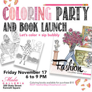 Coloring Party & Book Launch