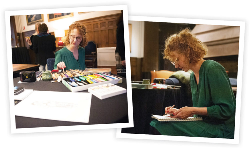 April Heather Art Live Drawing at PBS Premier