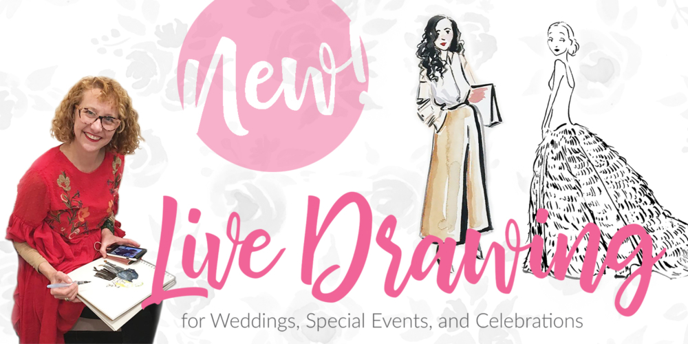 NEW! Live Drawing for Weddings, Special Events, and Celebrations!